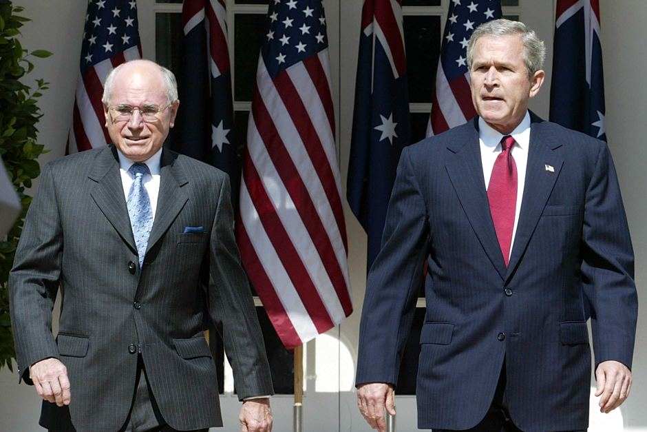 Bush and Howard March 2004