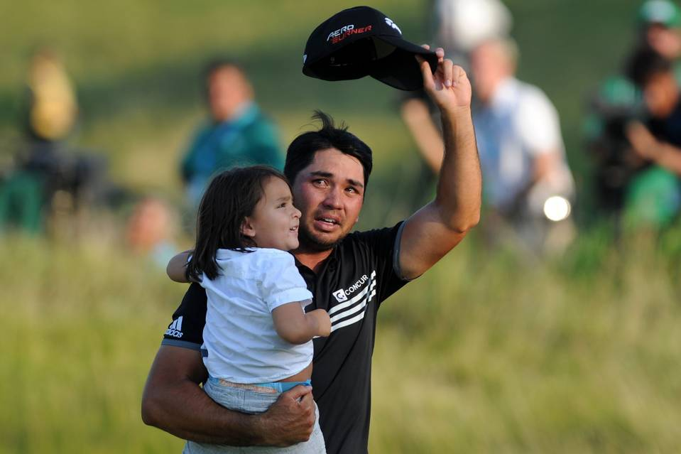 Jason Day with His Son
