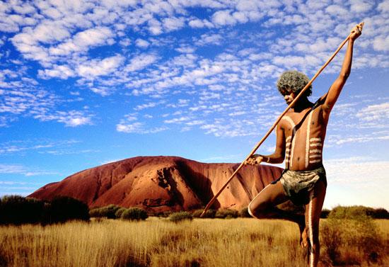Aborigine at Uluru