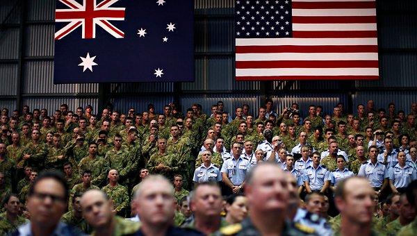 Australian and U.S. Troops