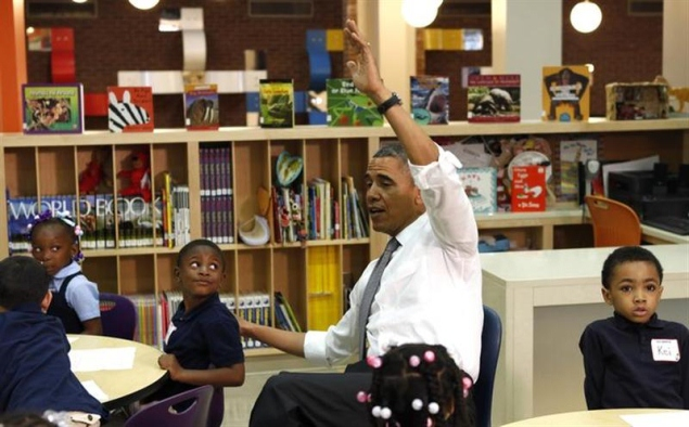 President Obama in the Classroom